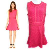 Marc By Marc Jacobs Large Pink Fit Flare Dress Leyne Rosa Mexicana $368