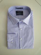 Van Heusen Men's European Fit Lilac Check Business Shirt  Size:44