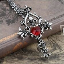 Gothic Movie Jewellery Witchcraft Vampire Cross Pendant Chain Fantasy Religious