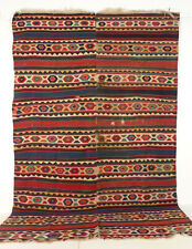 A Beautiful and Large Antique 19th Century Caucasian Shahsavan Kilim.