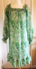 Marisa Kitty Copeland Vintage Green Floral floaty Dress 12 Wedding maternity