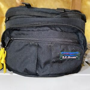 VINTAGE LL BEAN Men's Black Canvas Camera Waist Fanny Pack Bag Hiking Safari USA