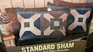 "Sierra Home Collection Standard Cotton Pillow Sham Cabin 100% Cotton ""Nicolas"""