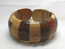 VINTAGE Retro Large Elegant Design Bangle Wood Bracelet Open Cuff