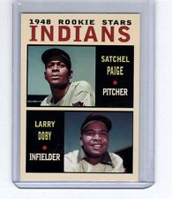 Satchel Paige & Larry Doby 1948 Cleveland Indians rookie stars Pastime series #5