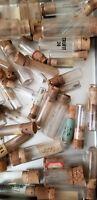 Lot of 6 Antique Watchmaker's Corked Vials Steampunk, Crafts, Watch Parts