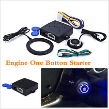 Car Engine Push Start Button RFID Lock Ignition Starter Keyless Entry Car Alarm