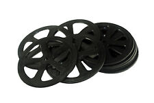 Proops 10 x 50mm Dia 1.5mm Wide 3mm Bore Wheels Black. Toy Car Making. S7400