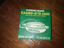Corning Ware Casserette Dish Spice o Life With Covers NEW SEALED BOX