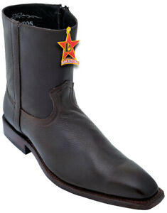 Los Altos Boots 168B5107 Brown Cafe Genuine Leather Ankle Boots Size 9 EE