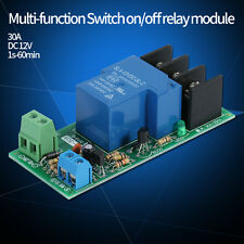 DC12V 30A Multifunction Adjustable Delay Timer Relay On/Off Module Hot sale
