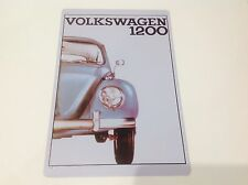VOLKSWAGEN 1200 Car Bug/Beatle GARAGE VW Wall Decor Vintage Sign Tin Plaque