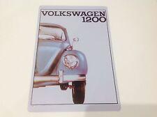 VOLKSWAGEN 1200 Car Bug/Beatle GARAGE VW Wall Decor Vintage Sign Tin Plaque
