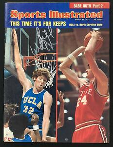 Bill Walton Signed Sports Illustrated 3/25/74 No Label UCLA Bruins Auto HOF JSA