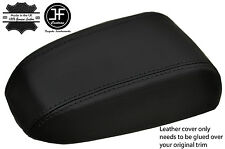 BLACK STITCHING REAL LEATHER ARMREST LID COVER FITS KIA CERATO