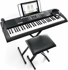 E Keyboard Alesis Melody 61 MKII elektronisch Piano Musik schwarz Netzteil fehlt