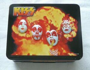 KISS EMBOSSED OFFICIAL LUNCH BOX W/ BONUS GIFT