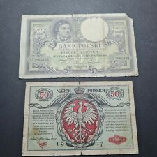 More details for poland banknote 5 banknotes 5 , 50 marek polskich , 50 500 5000 zlotych lot