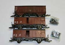 Roco H0 46256 u.a. drei gedeckte Güterwagen dabei FS Spitzdach gealtert alle OVP
