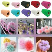"""6""""x100 yard TULLE Roll Spool Tutu Wedding Gift Soft Craft Party Bow Colour Pick"""