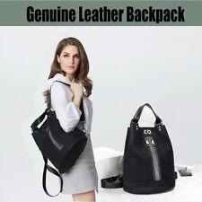 Genuine Leather Backpack Cowhide Messenger Bags Crystal Diamond Women Bucket Bag
