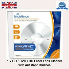 More details for 1 x cd/dvd/blura disc laser lens cleaner with antistatic brushes cd jewel case