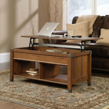Rustic Coffee Table Lift Top Workspace Laptop Desk Storage Furniture Cherry Wood