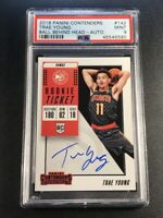 TRAE YOUNG 2018 PANINI CONTENDERS #142 BALL BEHIND HEAD AUTO ROOKIE RC PSA 9
