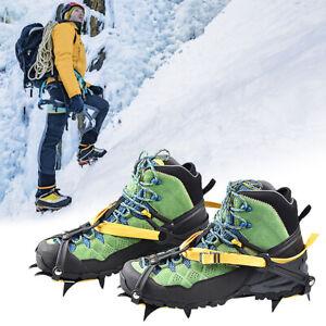 Antiscivolo Punte per Scarpe Ice Snow Grip Ramponi Trazione per Camminata Tacchetti per Ghiaccio Ramponi Calzature Elasticizzate per Camminare Keenso Tacchetti per Scarpe Ramponi