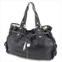 Francesco Biasia Tote bag Black Silver leather Woman Authentic Used L2558
