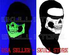 AMERICAN MADE ADULT GLOW IN THE DARK Balaclava SKULL SKI FULL HOOD MASK COTTON