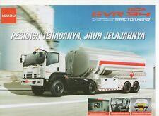 Isuzu Giga GVR 34 Tractor truck (made in Indonesia) _2018 Prospekt / Brochure