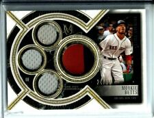 2018 Topps Museum Gold 3-Color Primary Pieces Quad Jersey Mookie Betts SP #24/25