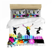 Dancers Music Single/Double/Queen/King Bed Quilt Doona Duvet Cover Set Linen