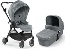 Baby Jogger City Tour Lux Stroller w/ Bassinet Kit Pram Travel System Slate NEW