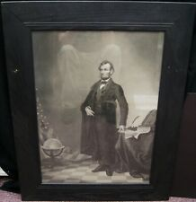 "Thomas Hicks ""Abraham Lincoln Portrait"" Engraving 1865 Framed B3240"