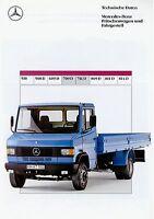 Mercedes 709 D 711 D Prospekt Datenblatt Technische Daten 12/90 1990 Lkw truck
