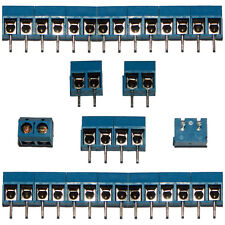 20x 2 Way Terminal Screw Block Connectors 16A 300V | Modular 5mm Pitch for PCB