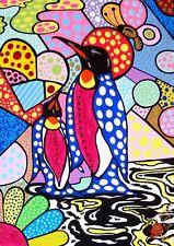 "ART Painting ""THE PENGUIN"" . Original by Artist . BEAUTIFUL"