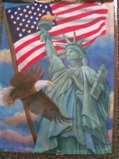 """New listing """"Symbols Of Freedom"""" Garden Flag - 12.5"""" x 18""""- Eagle Patriotic Flags New"""
