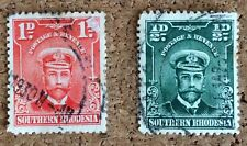 2 Southern Rhodesia Stamps 1924 1/2d And 1d