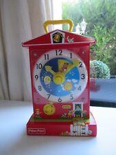 ♥Jouet Réédition De L'horloge Musicale Fisher Price Music Box Teaching Clock 998