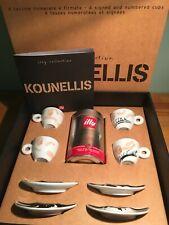 illy Art Collection 2002 Jannis Kounellis - 4 espresso cups