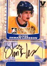 11-12 itg canada vs world vault oliver ekman-larsson team sweden autograph auto