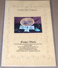 "Finger Work ""German Pyn Cushyons"" Cross Stitch Patterns NIP"