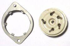 Socket 5 prong americain porcelaine pour pentode puissance US NOS NIB 2Z8711