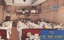 Postcard Three Crowns Restaurant New York Ny
