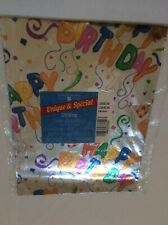 vtg American Greetings Silver Shiny Birthday Balloons USA Made Gift Wrapping nip