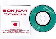 "BON JOVI Tokyo Road Live JAPAN-ONLY PROMO 4-track 3"" CD w/Pic Sleecve UIDX-1001"