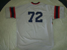 CARLTON FISK #72 WHITE SOX COOPERSTOWN MLB COLLECTION GRAY JERSEY FREE SHIPPING